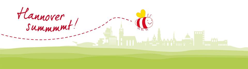 Hannover summt! Logo für Bienen und Imker Kurs im Clementinenhaus in Hannover